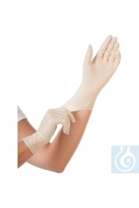 Handschuhe Latex gepudert, Größe L, 100 Stück Latexhandschuhe in praktischer Spenderbox, Farbe...