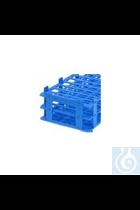 Reagenzglasgestell PP, Farbe blau