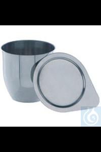 Nickeltiegel Schmelztiegel aus Nickel: Wandstärke 0,5 mm, Ø=35 mm, H=35 mm, 25 ml. Deckel mit...