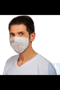 Einweg-Mundschutz, flach Atmungsfeste Einmal-Mundschutzmasken mit 2 Gummibändern zum Einhängen...