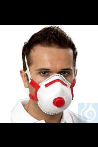 Atemschutzmaske Mandil, Filterklasse FFP3/V Atemschutzmaske mit farbcodiertem Nasenbügel, Cool...