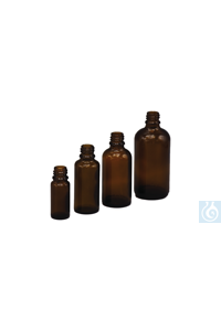 Allroundflaschen braune Tropfflasche (Braunglas), Gewinde DIN18, kann mit verschiedenen...