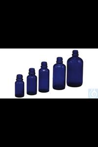 Tropfflaschen blau Royalblaue Tropfflasche (Blauglas), Gewinde DIN18, kann mit verschiedenen...