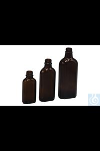 Meplatflaschen Meplatflasche aus Braunglas, Gewinde DIN 22, ohne Verschluss   Inhalt: 50 ml...