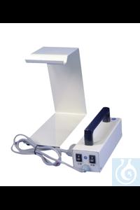 UV Analyselampe ohne Stativ UV-Analysenlampe, Wellenbereich 254 und 366 nm. Einzeln und zusammen...