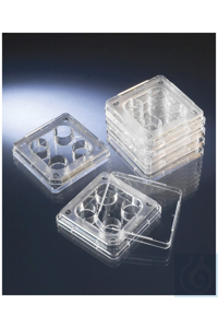 Nunc™ 4-Well Dishes for IVF Nunclon Delta Treated 4-Well IVF Dish Case...