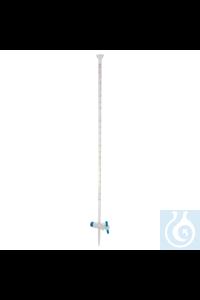 3Artículos como: Bureta con llave recta de PTFE y extremo en embudo, clase A, 10 ml Bureta con...