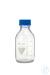 Laborflasche Rasotherm ISO, GL45, 500 ml, blauer Schraubverschluss (PP)...