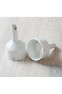 Porcelain buchner funnel, for filter paper Ø 70 mm x volume 120 ml Porcelain buchner funnel, for...