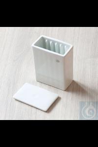 Cuve à coloration avec couvercle, porcelaine, B 70 x T 40 x H 86 mm Cuve à coloration avec...