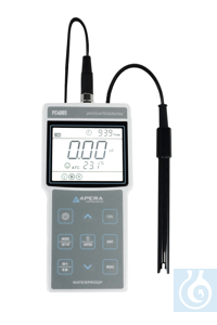 PC400S Portable pH/Conductivity Meter Kit, with GLP Data Management and USB...