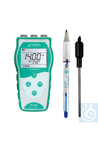 PH850-HF Portable pH Meter for Solutions containing Strong or Hydrofluoric...