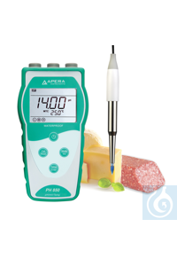 PH850-SS Portable pH Meter Kit for Food and Semi-solid Sample The Apera...