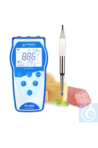 PH8500-SS Portable pH Meter Kit for Food Equipped with LabSen 753 Stainless...