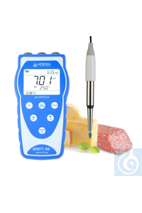 SX811-SS Portable pH Meter Kit for Food and Dairy Products Equipped with...