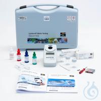 MD 110 Chlor, pH, Cyanursäure Flüssigreagenzien,Gerät im Kunststoffkoffer, 3 Rundküvetten,...
