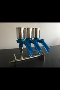 Mehrfach-filtertrichterhalter, 3 trichter Mehrfach-filtertrichterhalter, AISI 304, 3 trichter...