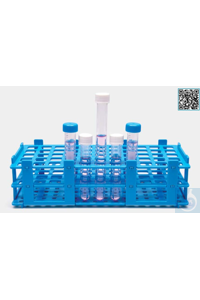 tube rack-dismantled-P.P-21 holes-for tubes 30 mm diameter-blue tube rack - dismantled - P.P - 21...