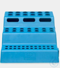 microtube rack-P.P-for 0,2/0,5/1,5 ml tubes-3 tiers-blue microtube rack - P.P - for 0,2/0,5/1,5...