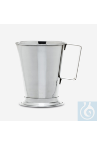 beaker-with handle-stainless steel-500 ml beaker - with handle - stainless steel - 500 ml