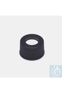 cap + septa-silicone / PTFE-without slit-for N13 screw vials cap + septa - silicone / PTFE -...