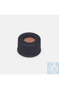 cap + septa-red rubber / FEP colourless-without slit-for N13 screw vials cap + septa - red rubber...