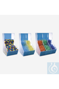 dispenser box-acrylic-three compartments dispenser box - acrylic - three compartments