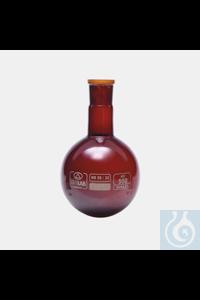 5Panašios prekės flask-round bottom-glass-amber-NS neck-50 ml-NS29/32 flask - round bottom -...
