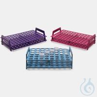 microtube rack-P.P-for 5,0 ml tubes-monoblock-ruby microtube rack - P.P - for 5,0 ml tubes -...