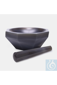 mortar-agate-with pestle-150 mm-standard form mortar - agate - with pestle - 150 mm - standard form