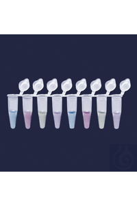 PCR strips-attached flat cap-strip of 8 x 0,2 ml tube PCR strips - attached flat cap - strip of 8...