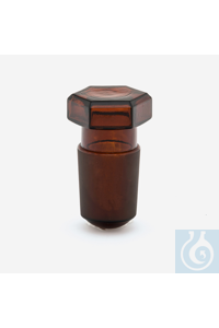 stopper-glass-amber-hexagonal-24/29
