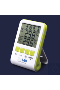 Thermometer-LCD Anzeige-Min Max-mit kabellosem Mess-Sender Thermometer, Min / Max, kabellos,...