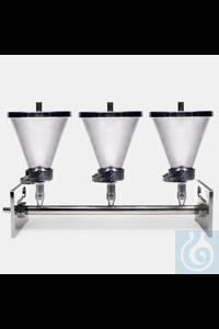 vacuum manifold-stainless steel-6 funnel holder vacuum manifold - stainless steel - 6 funnel holder