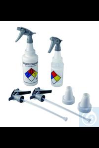 Bel-Art Polypropylene Trigger Sprayers w/ 53mm Adapters (Pack of 2) Bel-Art...
