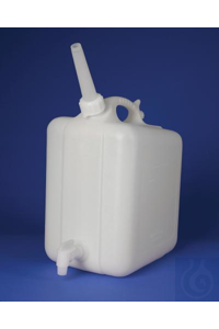 JERRICAN,HDPE,ASPIRATOR,WITH/SPIGOT,11859-0010 Bel-Art Polyethylene Jerrican...