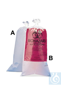 BAG,PP,UNPRINTED,12X24,100/BOX13160-0005 Bel-Art Clear Biohazard Disposal...