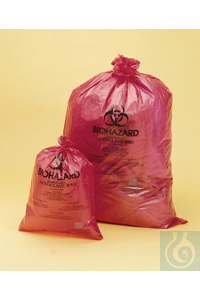 BAG,PP,WR,BIOHAZARD DISPOSAL,14X19,13164-1419 Bel-Art Red Biohazard Disposal...
