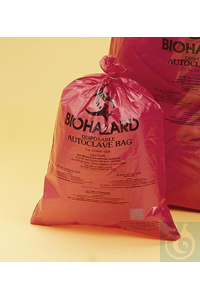 BAG,PP,WR,SUPER BIOHAZARD DISPOSAL,13165-1419 Bel-Art Super Strength Red...