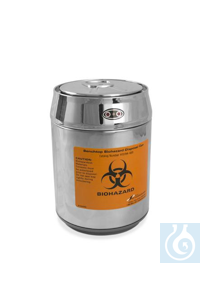 BENCH TOP DISPOSAL CAN13194-1011 Bel-Art Benchtop Biohazard Disposal Can with...