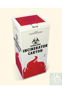 COVER,INCINERATOR CARTON13204-0000 Bel-Art Polypropylene Cover for Biohazard...