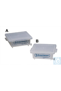 GEL STAINING BOX,PMP13551-1000 Bel-Art Clear PMP Gel Staining Box with...