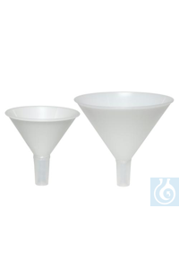 FUNNEL,PP,POWDER,WITH/STANDARD TAPER14681-0000 Bel-Art Polypropylene 169ml...