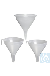 FUNNEL,PP,DRUM/CARBOY,200MM14712-0200 Bel-Art Polypropylene 2.1 Liter Drum...