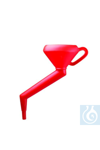 FUNNEL,HDPE,OFFSET STEM14820-0000 Bel-Art Polyethylene 1000ml Offset Stem Funnel