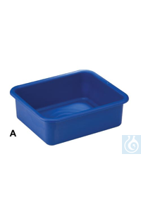 TRAY,10 QUART,ROUND LIP,BLUE,PP16200-0010 Bel-Art Multipurpose Polypropylene...
