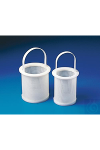 BASKET,HDPE,STRAINING16701-0000 Bel-Art Polyethylene Straining Basket; 4 in....