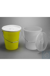 PAIL,LDPE,WITH/LID,YELLOW,14 QUART16772-0000 Bel-Art Polyethylene 13.2 Liter...