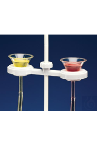 HOLDER,PP,FUNNEL,DOUBLE18242-0000 Bel-Art Polypropylene Funnel Holder for Two...