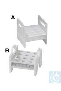 RACK,PP,CUVETTE18516-0000 Bel-Art Cuvette Rack; For 10mm Cuvettes, 12 Places,...